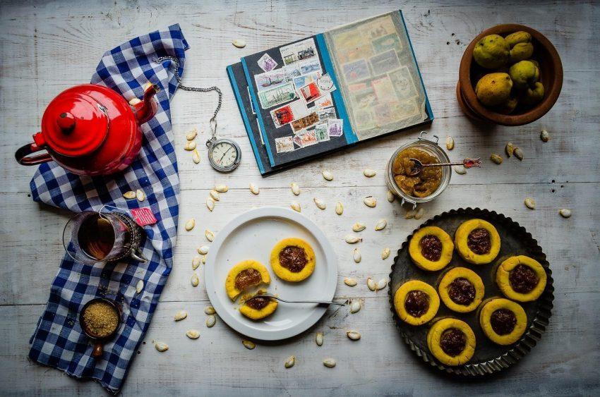 Kukurydziane ciasteczka z pigwą