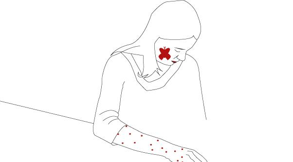 Red flag: wysypka na skórze