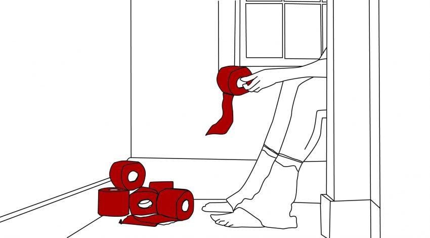 Red flag: biegunka