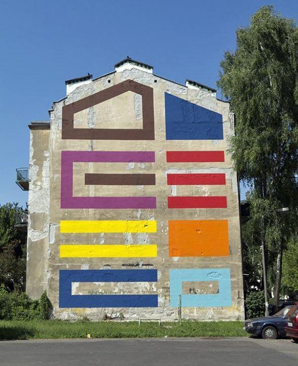 Mural w wielkim mieście