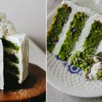 Tort cytrusowo-szpinakowy