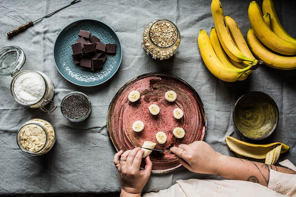 przepis na lody z mrozonych bananow
