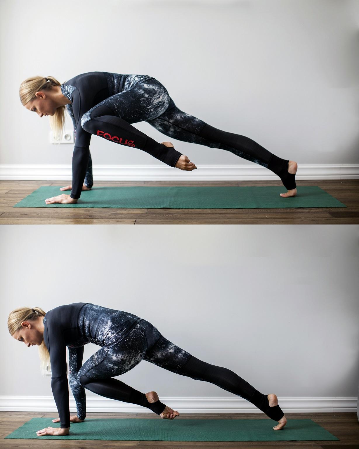 cwiczenia na core_przyciaganie kolana