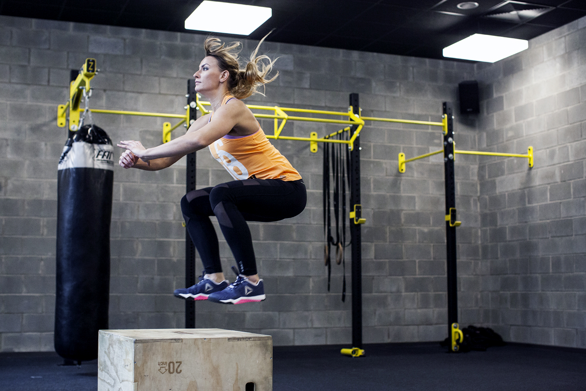 box jump technika