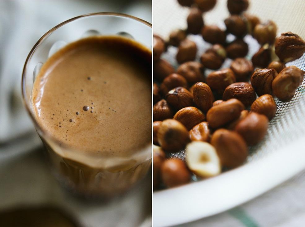 Przepis na czekoladowe mleko z orzechów laskowych