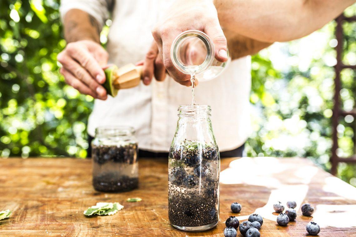 Chia fresca - lemoniada z nasionami chia