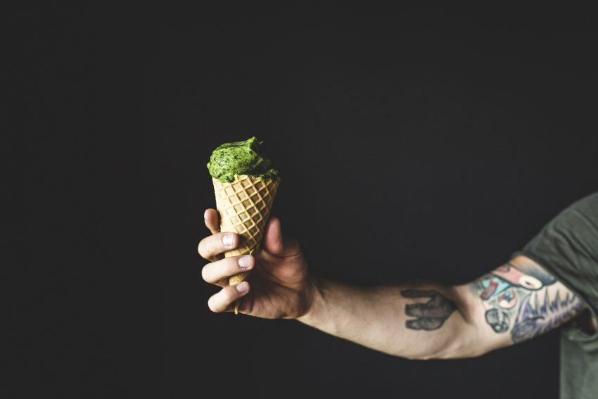 Na zielono - lody szpinakowe