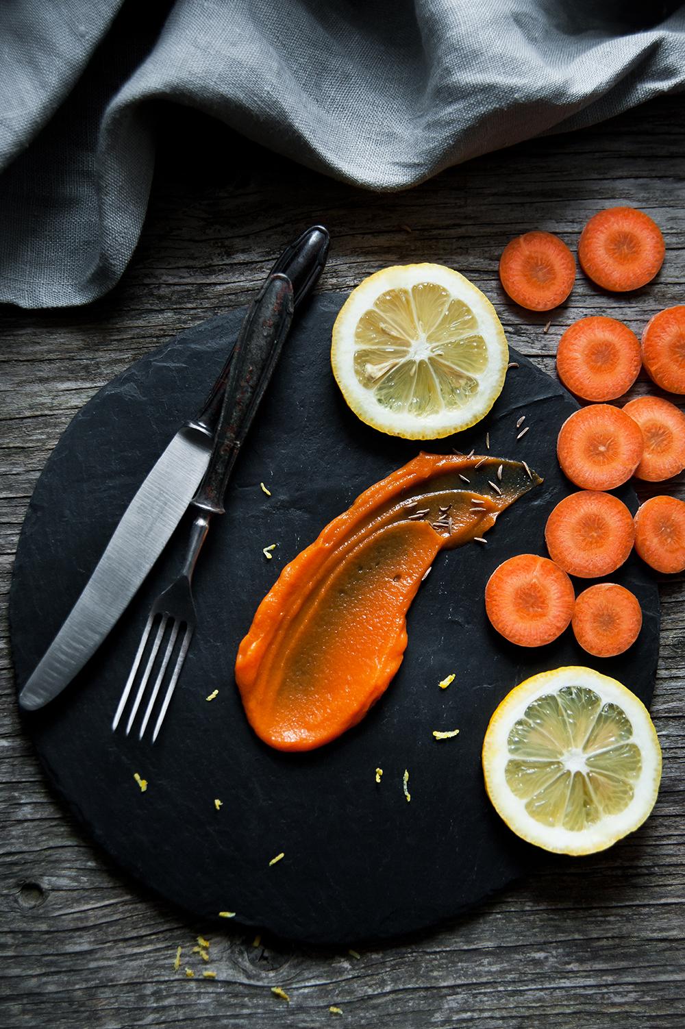 przepis na puree z pieczonej marchewki