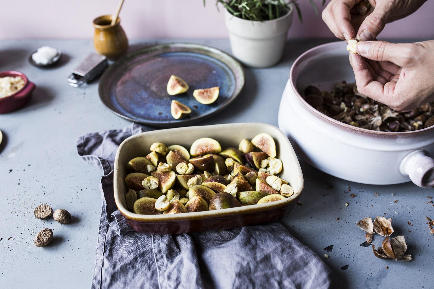 przepis na pieczone kasztany pod zdrowa kruszonka
