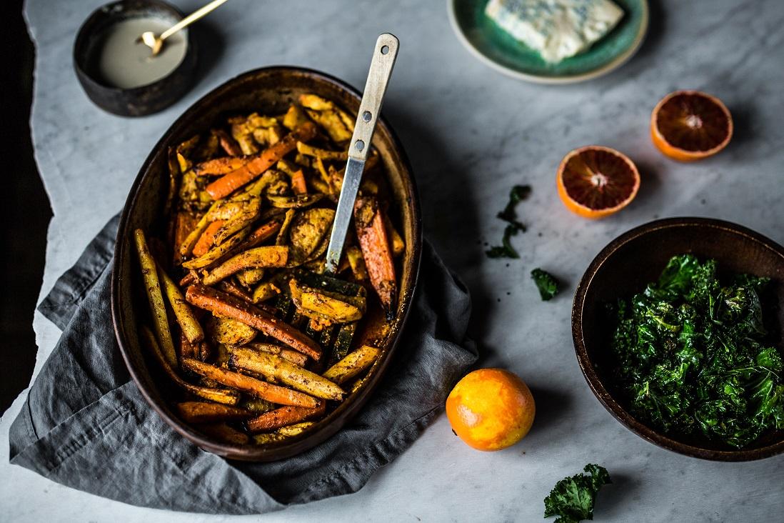 przepis na salatke z pieczonymi warzywami