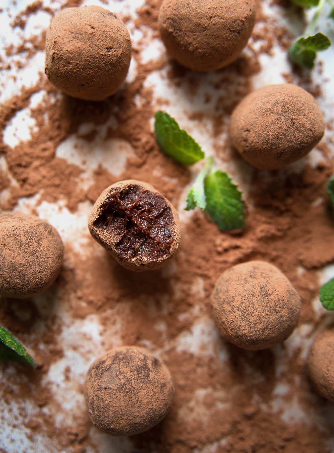 przepis na trufle czekoladowo mietowe