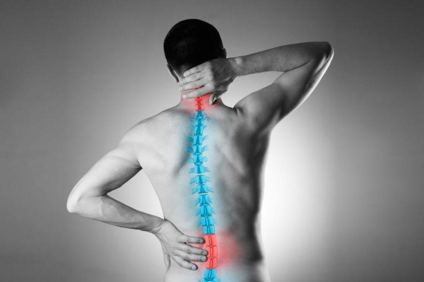 Graficzne przedstawienie miejsca bólu w kręgosłupie lędźwiowym