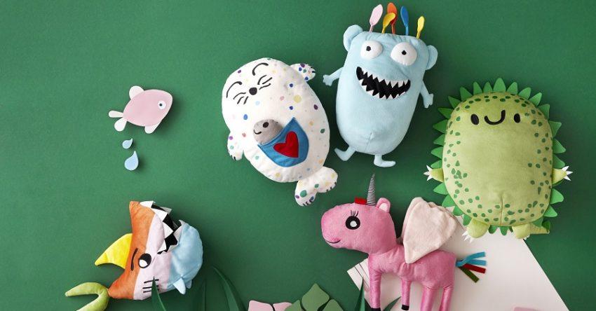 pluszaki zaprojektowane przez dziecko dla ikea