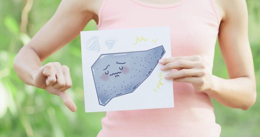 Graficzne przedstawienie raka wątroby