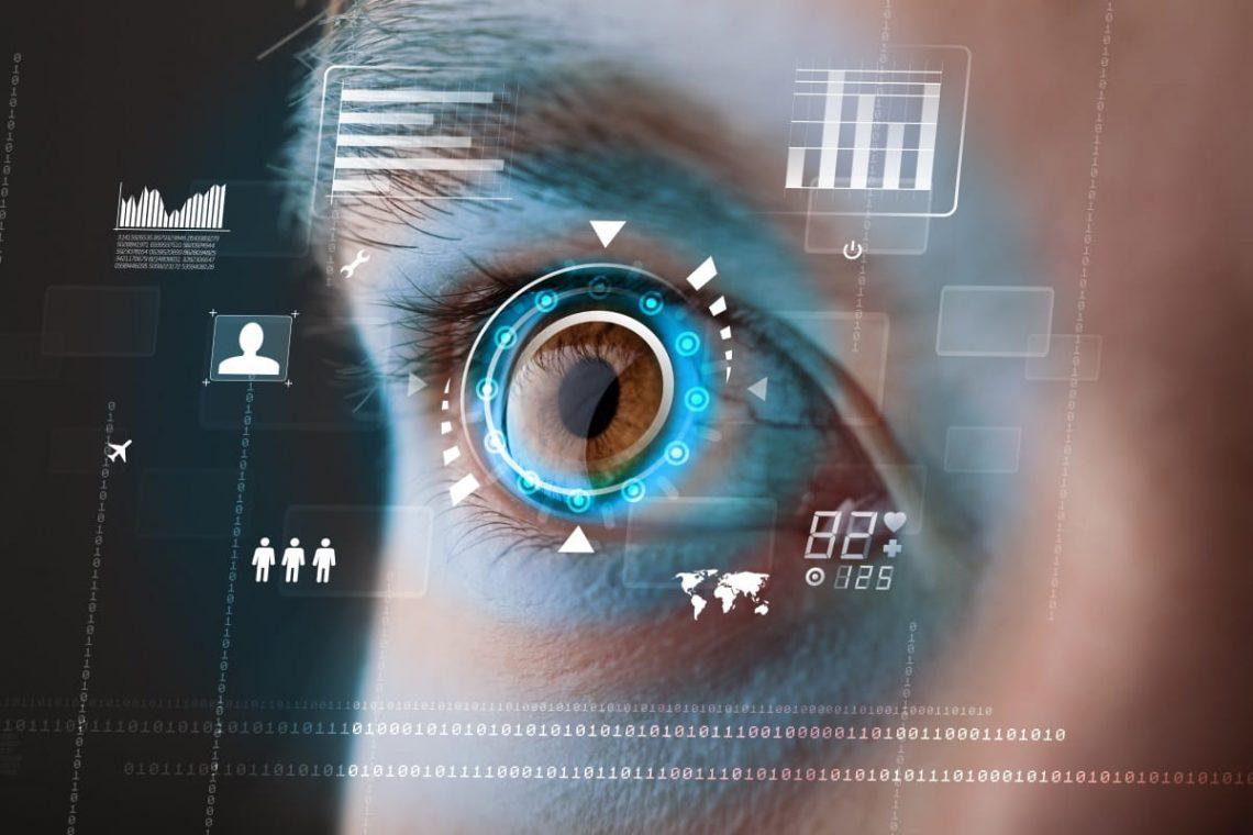 Zbliżenie oka z wadą wzroku