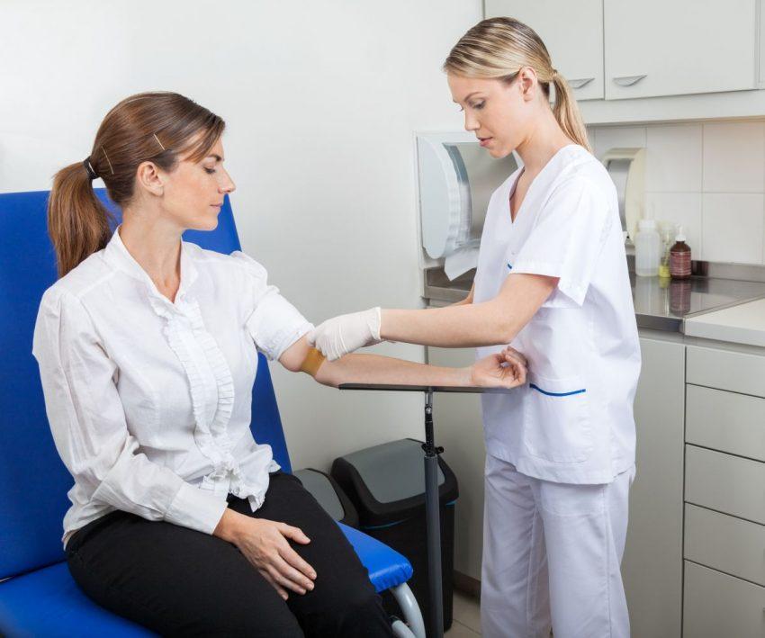 badanie tsh - pobieranie krwi