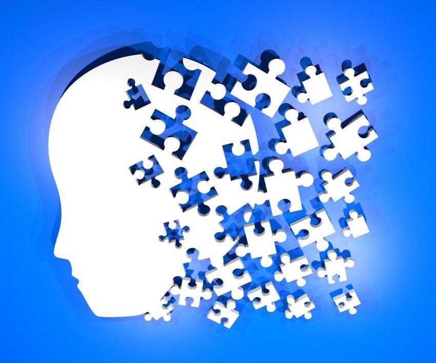 dyspraksja - głowa ułożona z puzzli