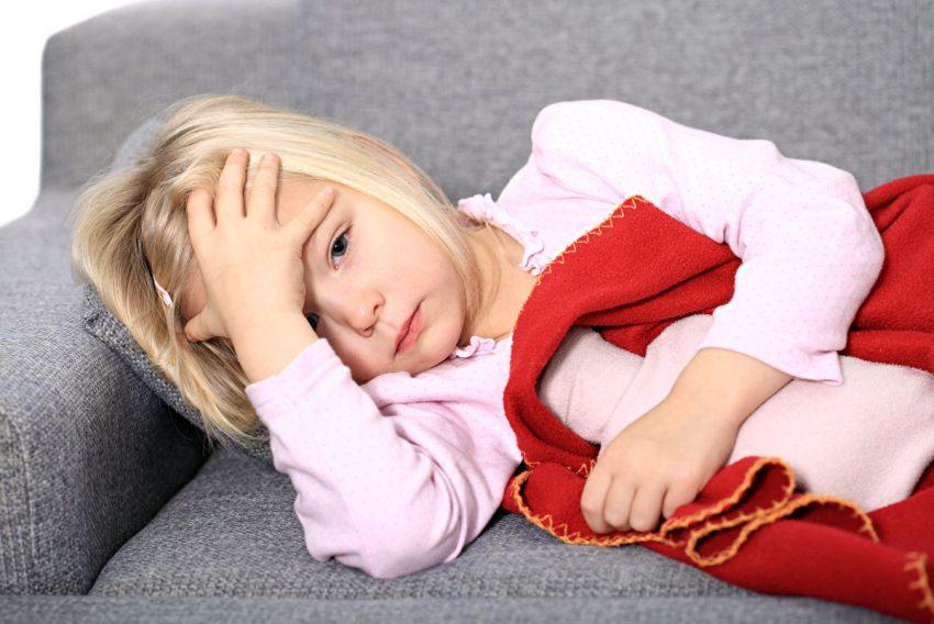 Dziecko chore na szkarlatynę