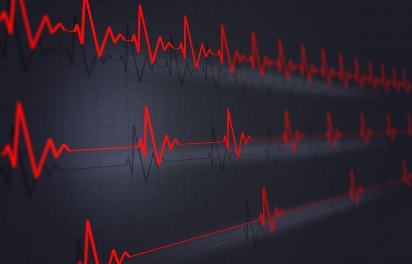 ilustracja pulsu człowieka w 3D