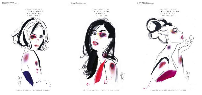 rysunki kobiet z siniakiami