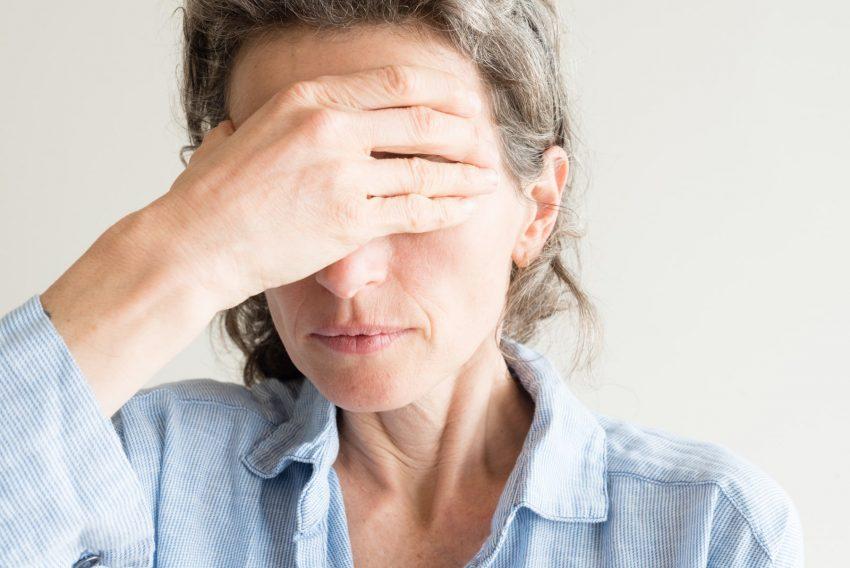 kobieta w stanie lękowym