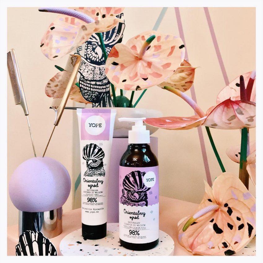 Odżywka i szampon do włosów z serii Orientalny ogród, YOPE