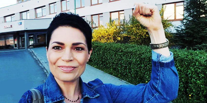 Joanna Górska pod szpitalem