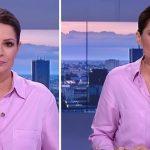Joanna Górska w związanych włosach na antenie