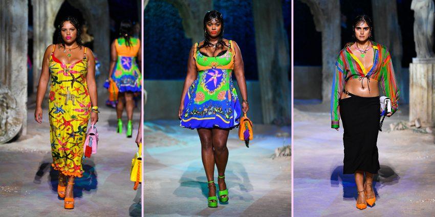 pokaz Versace, modelki plus size